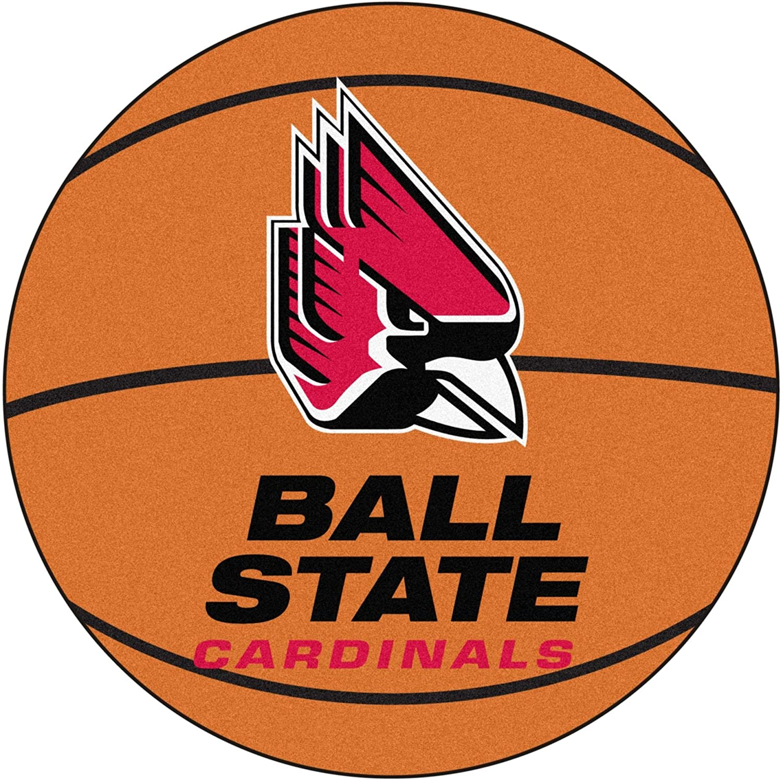 Ball State Cardinals Basketball Rug 29  diameter