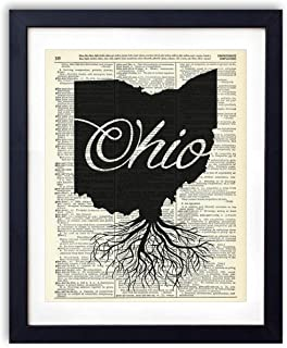 Ohio Home Grown Upcycled Vintage Dictionary Art Print 8x10