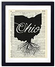Ohio Home Grown Upcycled Vintage Dictionary Art Print 8×10