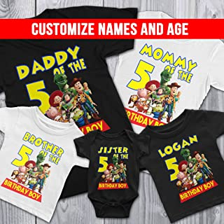 Family Personalize Toy Story Birthday T-Shirts