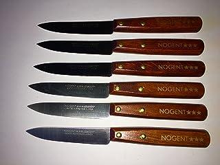 NOGENT Lot de 6 Couteaux Lisse Bois de Charme