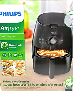 Philips HD9226/23 Viva Airfryer 1.8lb/2.75qt Black Fryer with Double Layer Rack
