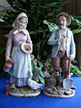 Homco masterpiece porcelain old man and old woman farmer figurines No.8816.
