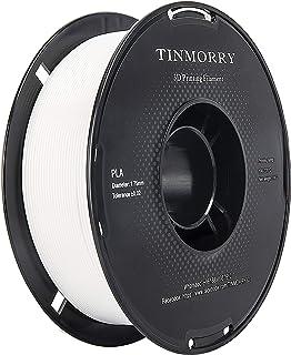 PLA フィラメント,【TINMORRY】3dプリンタ用造形材料, 3dプリンター フィラメント 1.75mm 1Kg シグナルホワイト (3D Printer Filament Signal White)