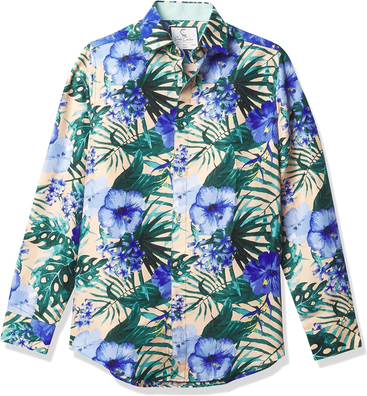 Azaro Uomo Men's Shiny ランキング総合1位 Dress Shirt Button Free Wrinkle セール商品 Casual Do