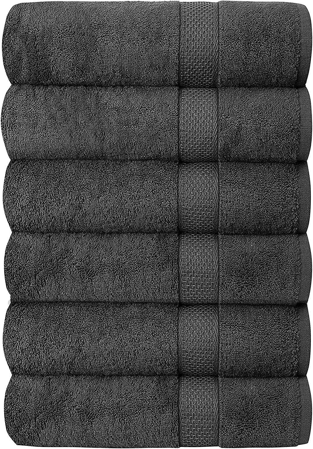 Quba Linen Luxury Hotel /& Spa 100/% Cotton Premium Bath Towels Set of 6-24x48 inch Ultra Soft Large Bath Towel Set Highly Absorbent Daily Usage Ideal for Pool and Gym Pack of 6