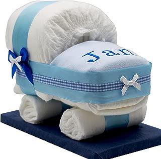 in blau f/ür Jungen Die Windeltorte ist geschenkfertig in Folie verpackt. Kleines Windelbaby PIMFI Pommelchen 21tlg Geschenk zur Geburt Babyparty Taufe