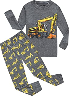 Family Feeling Truck Little Boys Kids Pajamas Sets 100% Cotton Pjs Toddler