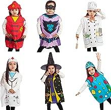 IQ Toys 6 pcs Dress up Costumes 1 Fireman 2 Gotham 3 Cook 4 Nurse 5 Clown 6 Witch