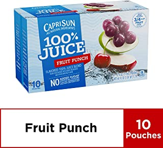 Capri Sun 100% Fruit Punch Juice, 60 Fl. Oz (Pack of 4)