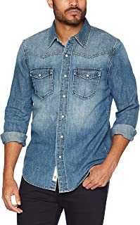 Men's Denim Western Snap Up Shirt