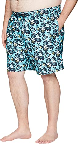 Big & Tall Abstract Floral Print Swim Trunk
