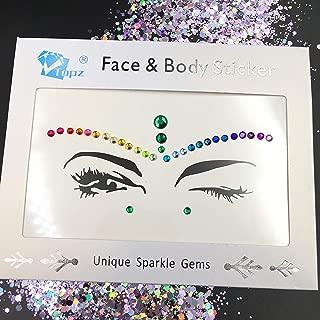 face gems festival halloween face jewels crystals bindi rainbow body jewels temporary tattoo halloween sticker