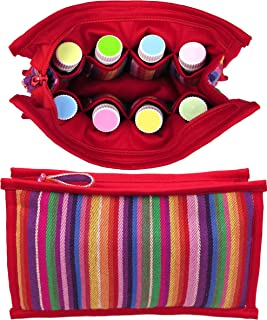 ESSENTIAL OIL BAG | Large Essential Oils Carrying Case | Roller Bottle Travel Case | Storage for Essential Oils Accessories | Cases / Bags / Holder for 15ml, 10ml, & 5ml Aromatherapy Bottles (Candy)