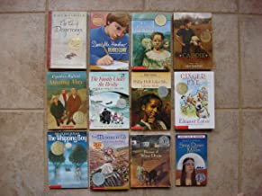 Set of 12 Newbery Medal/Honor Books (Caddie Woodlawn ~ Tale of Despereaux ~ Ginger Pye ~ Whipping Boy ~ Moorchild ~ Because of Winn-Dixie ~ Missing May ~ Family Under the Bridge ~ Philip Hall Likes Me, I Reckon Maybe ~ M.C. Higgins the Great ~ Dear Mr. Henshaw ~ Sing Down the Moon)