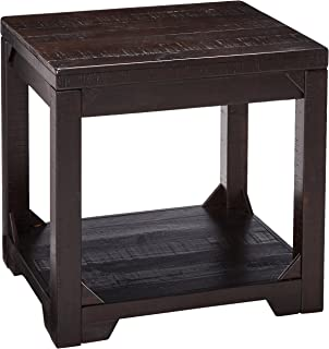 Ashley Furniture Signature Design - Rogness Rectangular End Table - Rustic - Distressed Brown