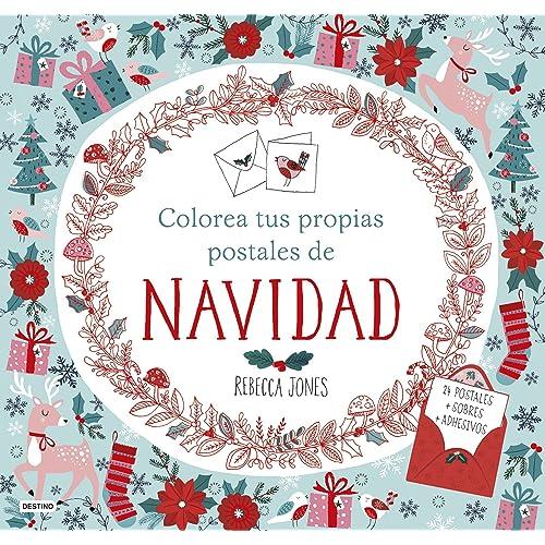 Colorea tus propias postales de Navidad Libros de entretenimiento ...
