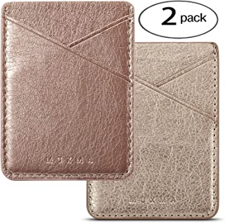 Phone Card Holder Adhesive Stick-on Credit Card Wallet Phone Case Pouch Sleeve Pocket for Most of Smartphones(iPhone/Andro...