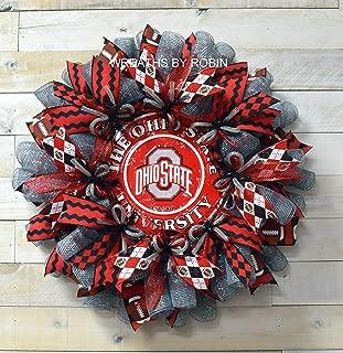 Ohio Sports Wreath, Ohio College Wreaths, Deco Mesh Wreaths, 4092