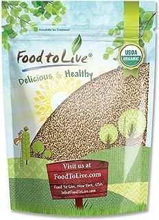 Organic Wheat Berries, 1 Pound – Non-GMO, Kosher, Raw, Sproutable, Vegan, Sodium and Sugar Free