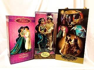 D23 Expo Disneys Fairytale Designer Collection Jasmine and Aladdin Limited Edition 6000 w/ Designer Bag