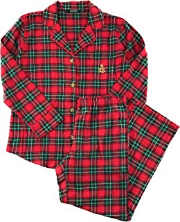 Ralph Lauren Women's Plaid Brushed Cotton Pajamas