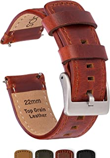 GadgetWraps 22mm Watch Band w/Quick Release - Leather Strap (Top Grain) for Samsung G2, G3, Gear, Galaxy & Frontier Plus Fossil, LG, Asus, Vintage Watches for Men | Corea Reloj del Cuero