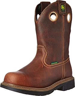 John Deere Men's 11 Brn Waterproof Steel Toe EH PO Work Boot
