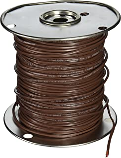 Southwire 64168845 18/3 500-Feet 3 Conductor Thermostat Wire, 18-Gauge Solid Copper Class 2 Power-Limited Circuit Cable, Brown