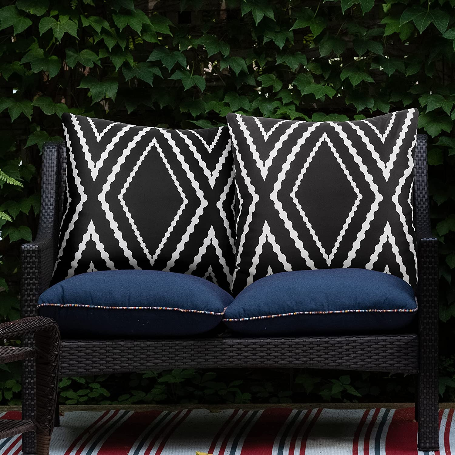 Adabana Outdoor 70% OFF Outlet Waterproof Direct store Boho Throw Covers Geometric Pillow Pi