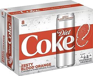 Diet Coke Sleek Can, Zesty Blood Orange, 12 Fluid Ounce (Pack of 8)