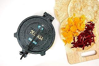Delcasa Mexican Style Tortilla Press for Making Homemade Tortillas & Tacos–Pre-Seasoned Cast Iron Tortilla Press/Pataconer...
