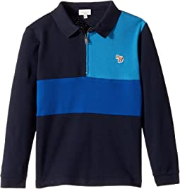 Color Blocked Zip Polo (Toddler/Little Kids)