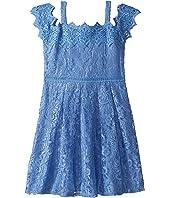 Cold Shoulder Lace Dress (Big Kids)