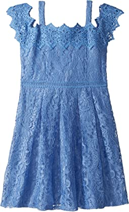 Us Angels Cold Shoulder Lace Dress (Big Kids)