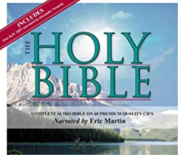 2 Complete King James Version Audio Bibles in one Product! -60 CD Discs Narrated by Eric Martin and 2 MP3CDs narrated by Alexander Scourby.All 66 ... ... Complete Old and New Testaments on 60 CDs