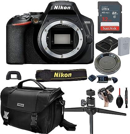 $309 Get Nikon D3500 DSLR Camera Body (No Lens)+ 32GB Card, Tripod,Case and More (13pc Bundle)