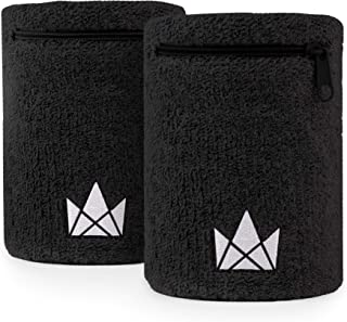 Zipper Sweatband Wristband Pocket, Wrist/Ankle Wallet Pouch for Jogging, Sports, Walking (2 Pack)