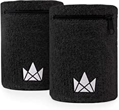 The Friendly Swede Zipper Sweatband Wristband Pocket, Wrist/Ankle Wallet Pouch for Jogging, Sports, Walking (2 Pack)