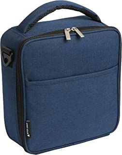UPPER ORDER Durable Insulated Lunch Box Tote Reusable Cooler Bag 25 Percent Larger Storage (Midnight Blue)