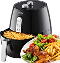 NETTA 4.5L Air Fryer Oil Free with A Adjustable Temperature Control and Timer - Black