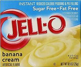 JELL-O Banana Cream Instant Sugar Free Fat Free Pudding & Pie Filling Mix (0.90 oz Box)