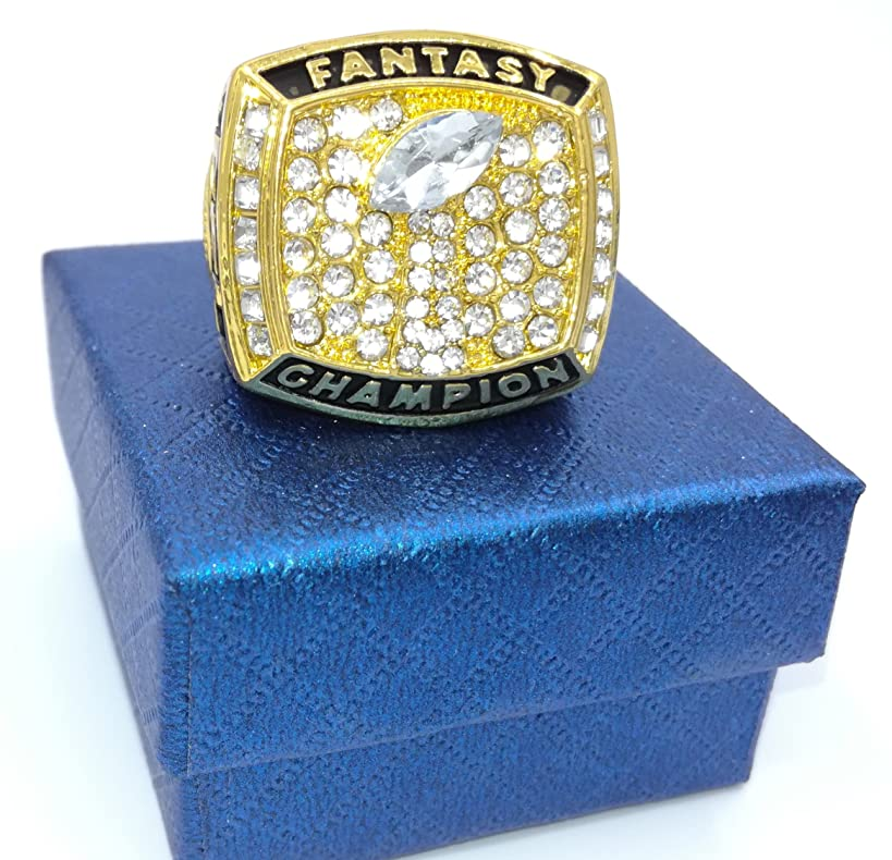 TuoYu 2018 Fantasy Football Championship Gold Rings Trophy Prize Draft