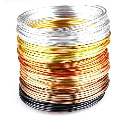 12 m fils d/'aluminium 1 mm Or Cuivre Aludraht au Mètre Bijoux fils c248