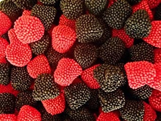 CandyKorner Raspberries And Blackberries | Raspberry and Blackberry Gels 1 Pound ( 16 Ounce )