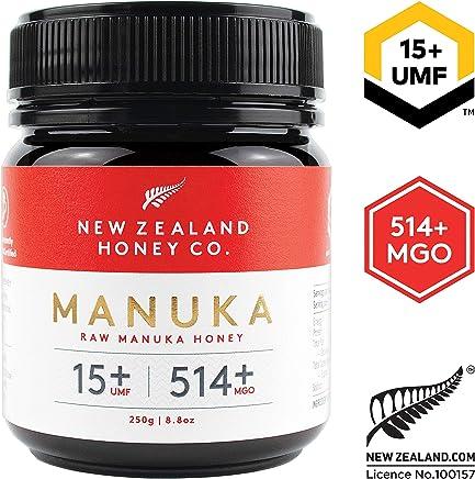 New Zealand Honey Co. Raw Manuka Honey UMF 15+   MGO 514+, 8.8oz / 250g