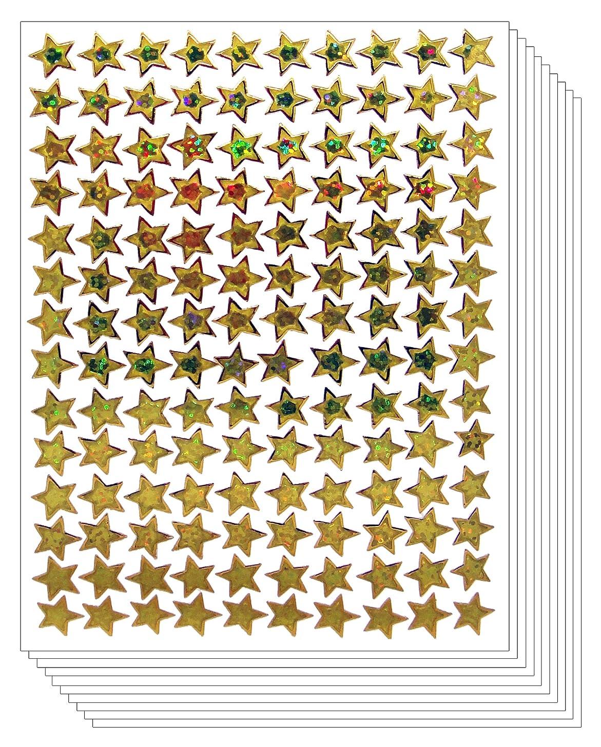 Star School Mini Reward Stickers Kid (Gold, 10 Sheets)
