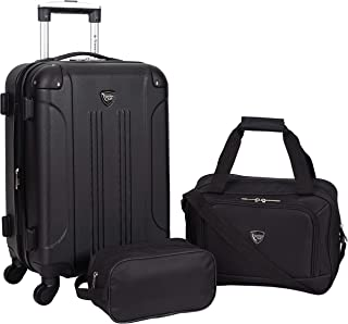 Travelers Club Luggage 3 Piece Chicago Plus Carry-On Luggage and Accessories Set