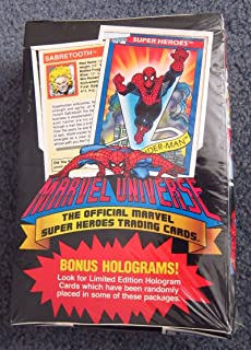 1990 Marvel Universe Series I Trading Card Box - 36 Packs 12 Cards per Pack