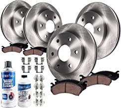 Detroit Axle - 6LUG Front and 330mm Rear Disc Brake Kit Rotors w/Ceramic Pads w/Hardware & Brake Kit Cleaner for 2001 Chevy Silverado 1500/ GMC Sierra 1500 4x4 Models with Dual Rear Calipers ONLY